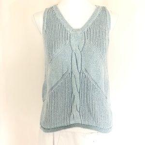 Cabi Sea Spray Sweater Vest Sleeveless Cable Knit